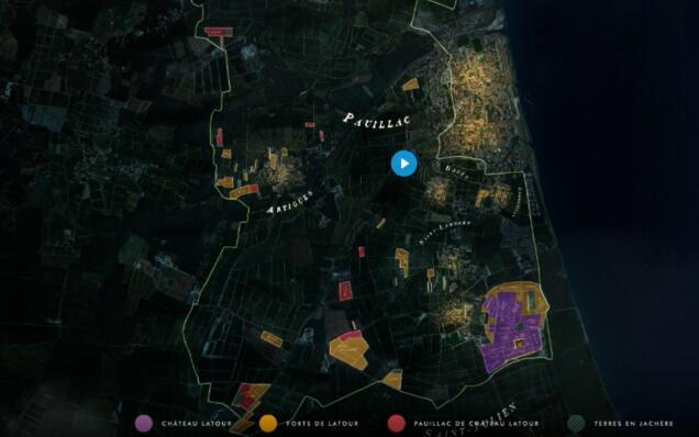 拉图葡萄园分布图