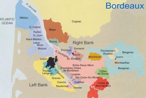 波尔多产区地图