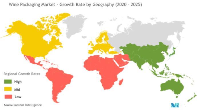 全球葡萄酒包装市场增长示意图