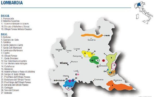 伦巴第产区地图