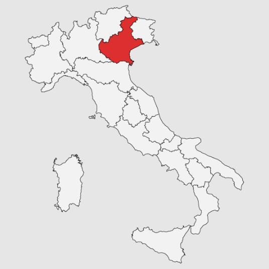 威尼托产区(Veneto)地图